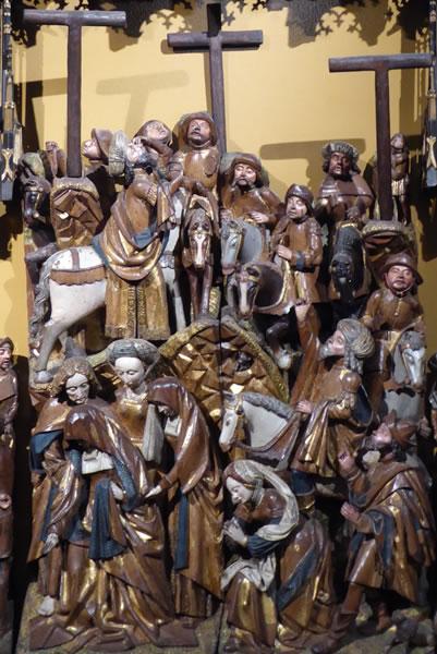 A. Preparación para la crucifixión.