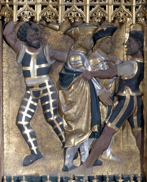 6. Los Santos Emeterio y Celedonio predican ante las murallas de Calahorra.