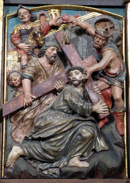 14.- Cristo con la cruz a cuestas.
