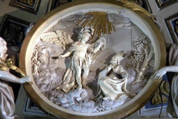 B.- Aparición de San Miguel a San Lorenzo de Maiorano