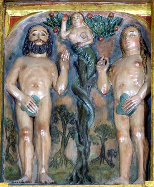 17.- Adán y Eva en el Paraíso.