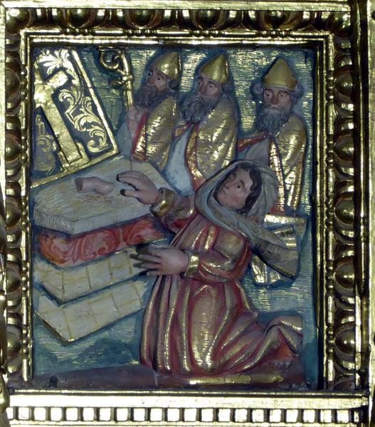 11. Adoración de las reliquias del Bautista