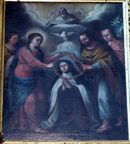 B. Imposición del collar a Santa Teresa de Ávila.