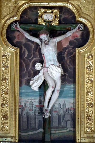 B. Cristo crucificado.