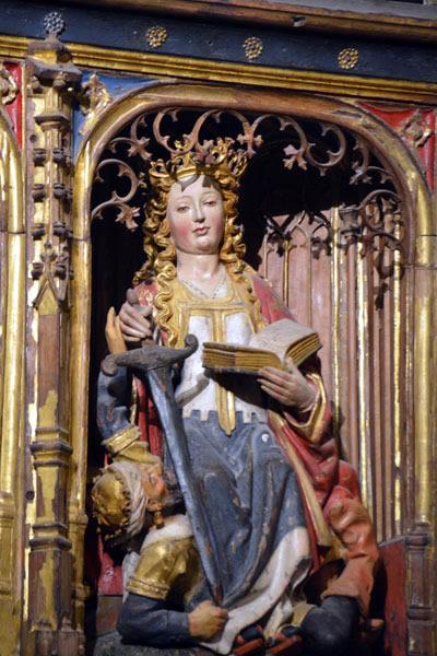 d. Santa Catalina de Alejandría.