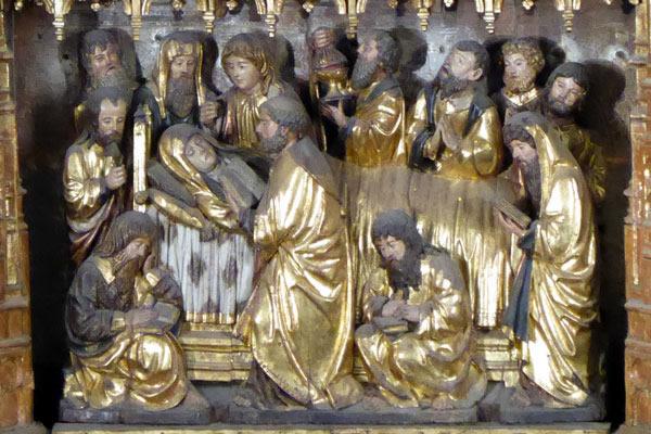 16. Dormición de la Virgen.