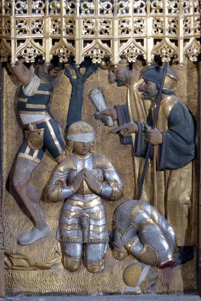 5. Decapitación de los santos Emeterio y Celedonio.