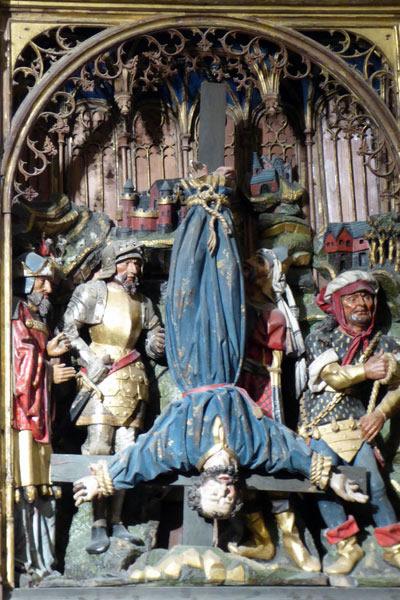 2. Crucifixión de San Pedro.