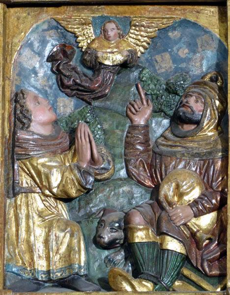 4.- Anuncio del ángel a los pastores.
