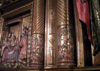 Retablo Mayor de la Asunción (Güeñes) columnas