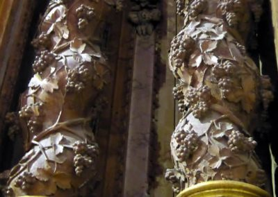 Retablo Lateral de San José (Orduña) columnas