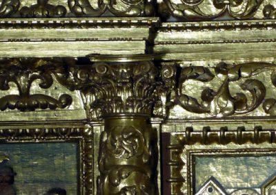 Retablo Mayor de San Juan Bautista (Gordexola) capiteles