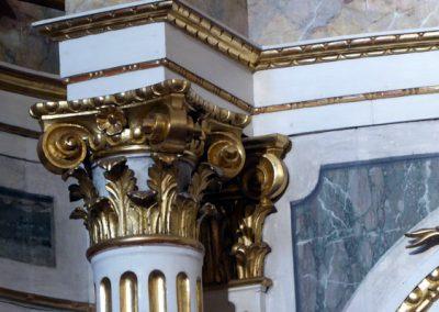 Retablo de San Juan Bautista (Bermeo) columnas