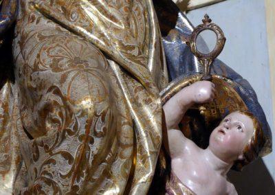 Retablo de la Inmaculada (Bermeo) ropajes