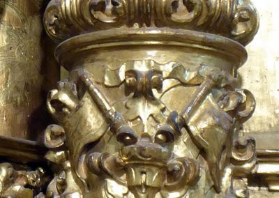 Retablo Lateral de San José (Markina - Xemein) columnas