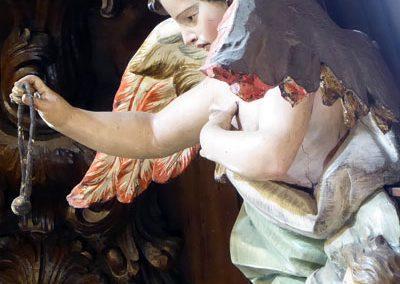 Retablo de San Blas (Bilbao) ángel