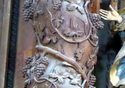 Retablo de la Sagrada Familia (Orduña) columnas