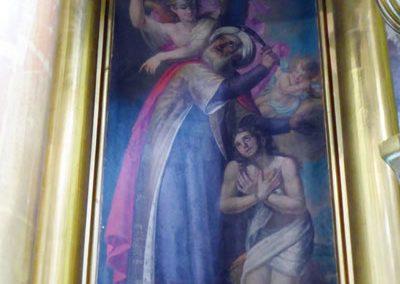 Retablo Mayor de la Asunción (Gautegiz Arteaga) sacrificio
