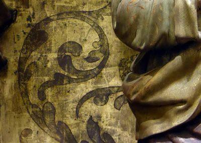 Retablo de San Juan Evangelista (Bilbao) estofado