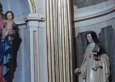 Retablo de la Virgen del Rosario (Bermeo) columnas