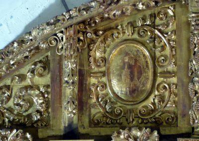Retablo Asunción Nuestra Señora (Zeanuri) espejo