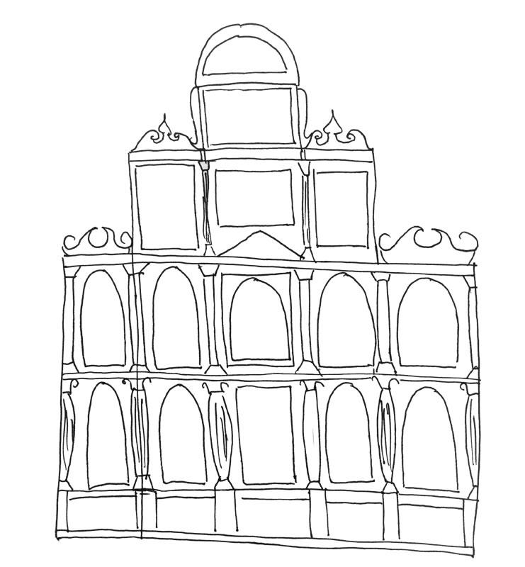 Retablo tipo fachada